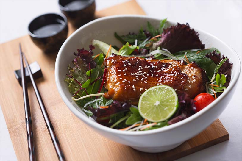 Teriyaki Chicken with Vegetables bowl