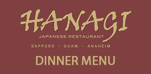 graphic for Hanagi Dinner Menu